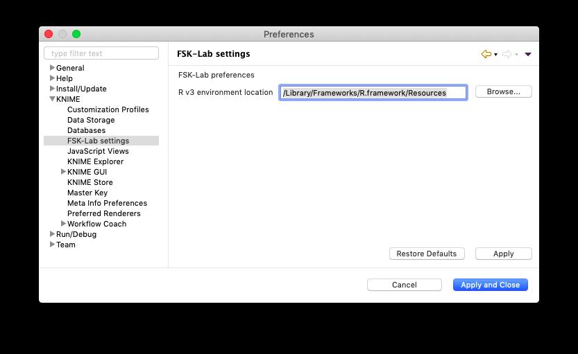 FSK settings